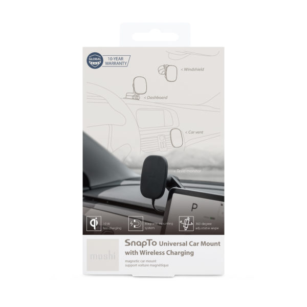 SnapTo Universal Car Mount with Wireless Charging Package