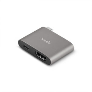 USB C to HDMI Adapter with Charging Titanium Gray